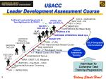 usacc leader development assessment course