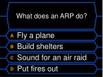 what does an arp do