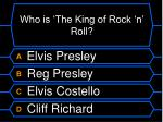 who is the king of rock n roll
