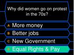 why did women go on protest in the 70s36