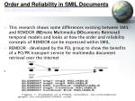 order and reliability in smil documents http portal acm org citation cfm id 837373