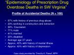 epidemiology of prescription drug overdose deaths in sw virginia71