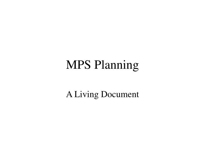 mps planning n.