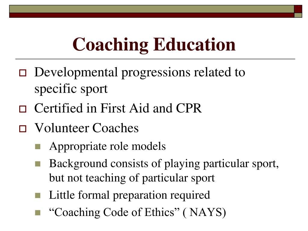 Coaching Education