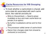 cache resources for wb snooping30