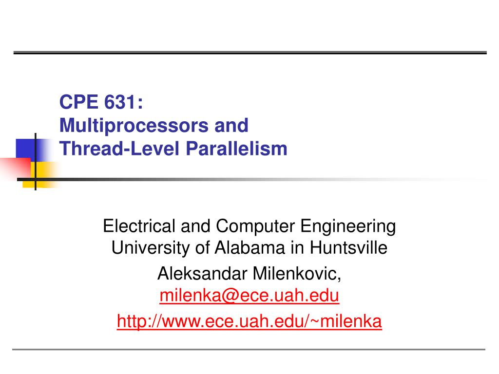 cpe 631 multiprocessors and thread level parallelism