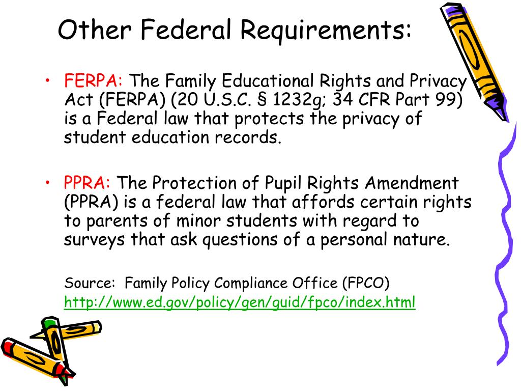 Other Federal Requirements:
