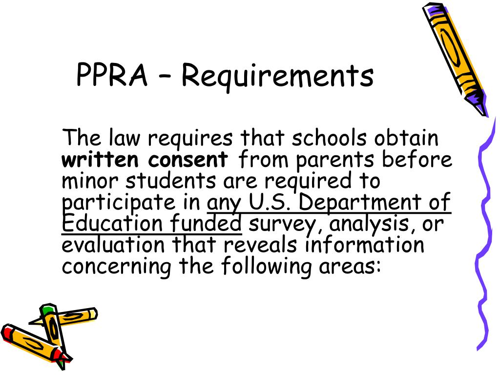 PPRA – Requirements