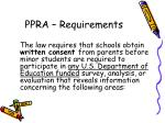 ppra requirements