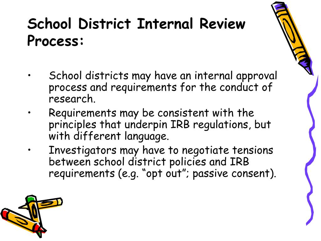 School District Internal Review Process: