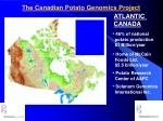 the canadian potato genomics project