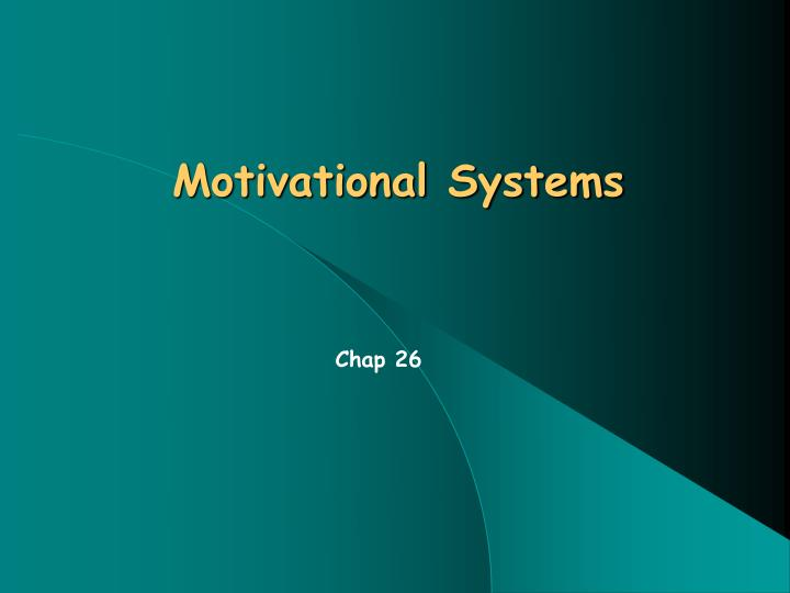 motivational systems n.