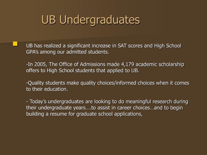 Ub undergraduates