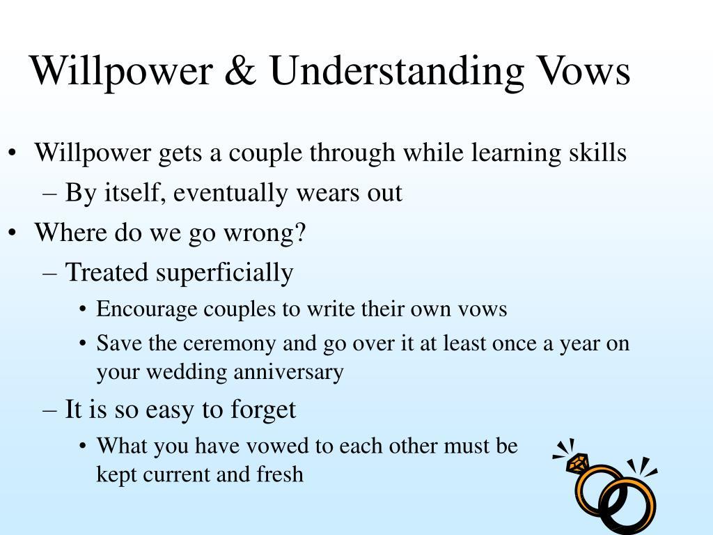 Willpower & Understanding Vows