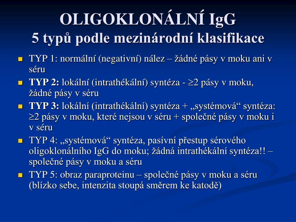 OLIGOKLONÁLNÍ IgG