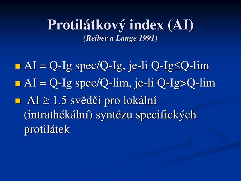 Protilátkový index (AI)