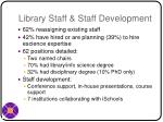 library staff staff development
