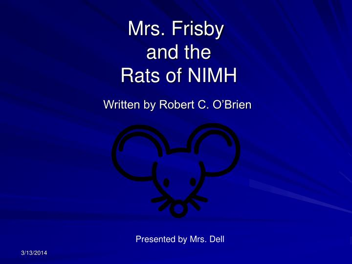 mrs frisby and the rats of nimh n.
