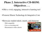 phase 2 interactive cd rom objectives