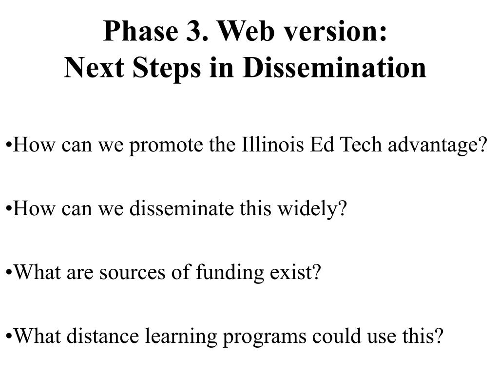 Phase 3. Web version: