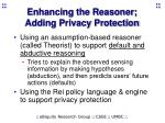 enhancing the reasoner adding privacy protection