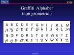 graffiti alphabet non geometric