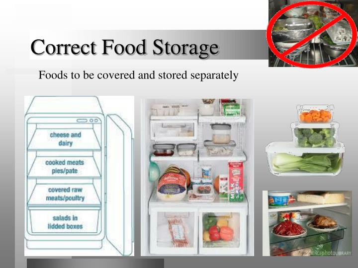 Correct Food Storage  sc 1 st  SlideServe & PPT - BASIC INTRODUCTION TO FOOD HYGIENE PowerPoint Presentation ...