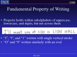 fundamental property of writing6