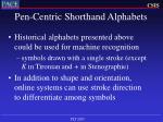 pen centric shorthand alphabets22