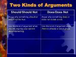 two kinds of arguments20