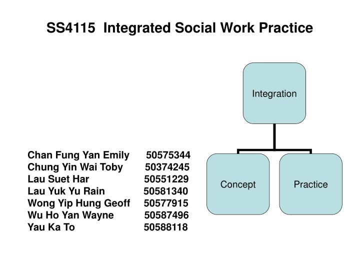 ss4115 integrated social work practice n.