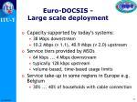 euro docsis large scale deployment