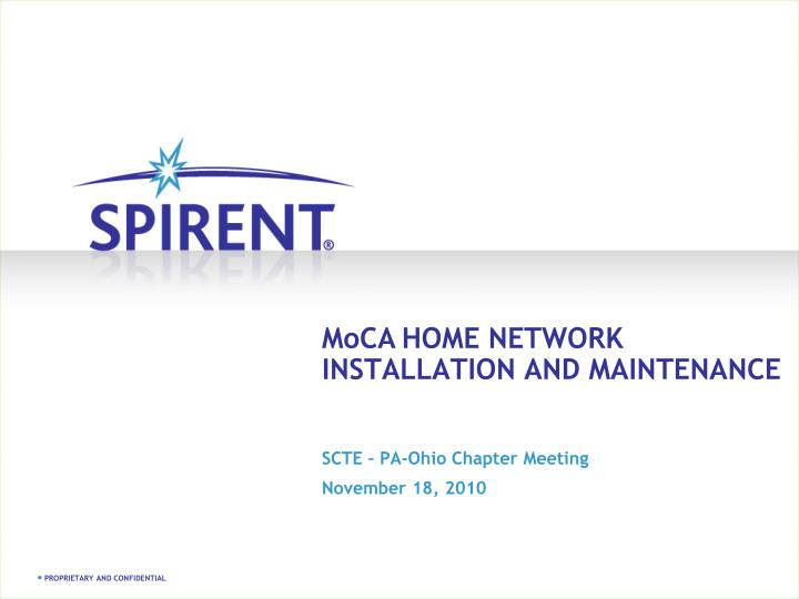 moca home network installation and maintenance n.