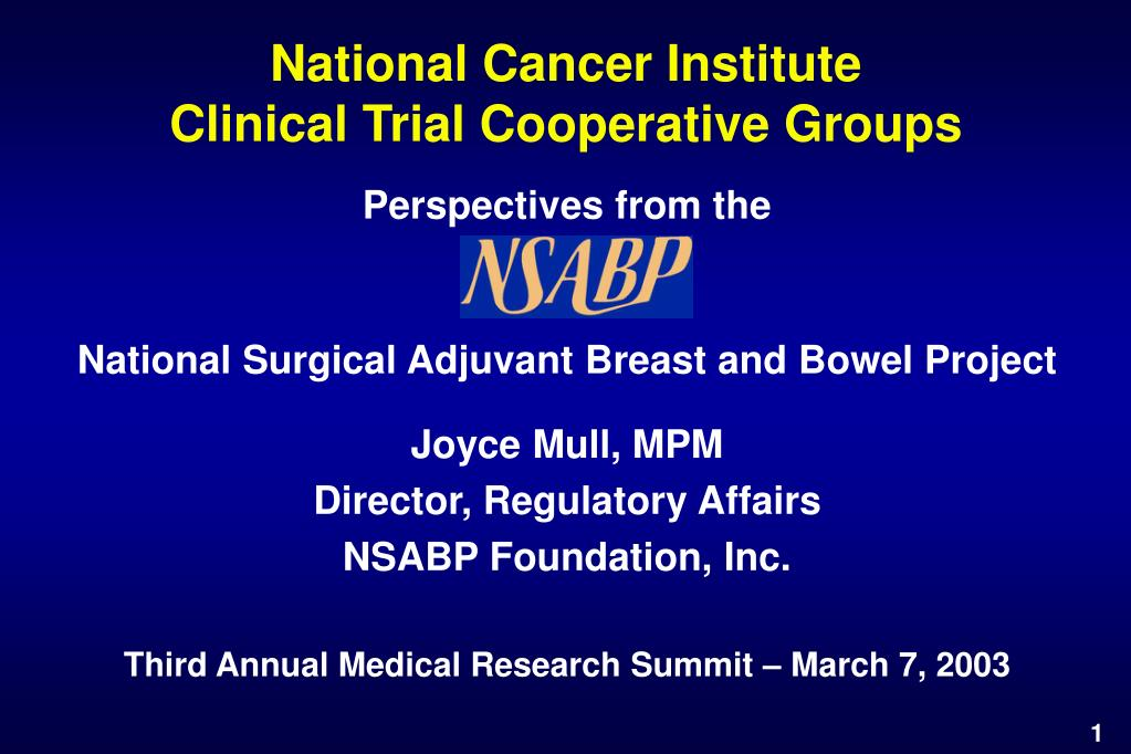 national cancer institute clinical trial cooperative groups l.
