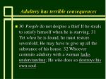 adultery has terrible consequences61