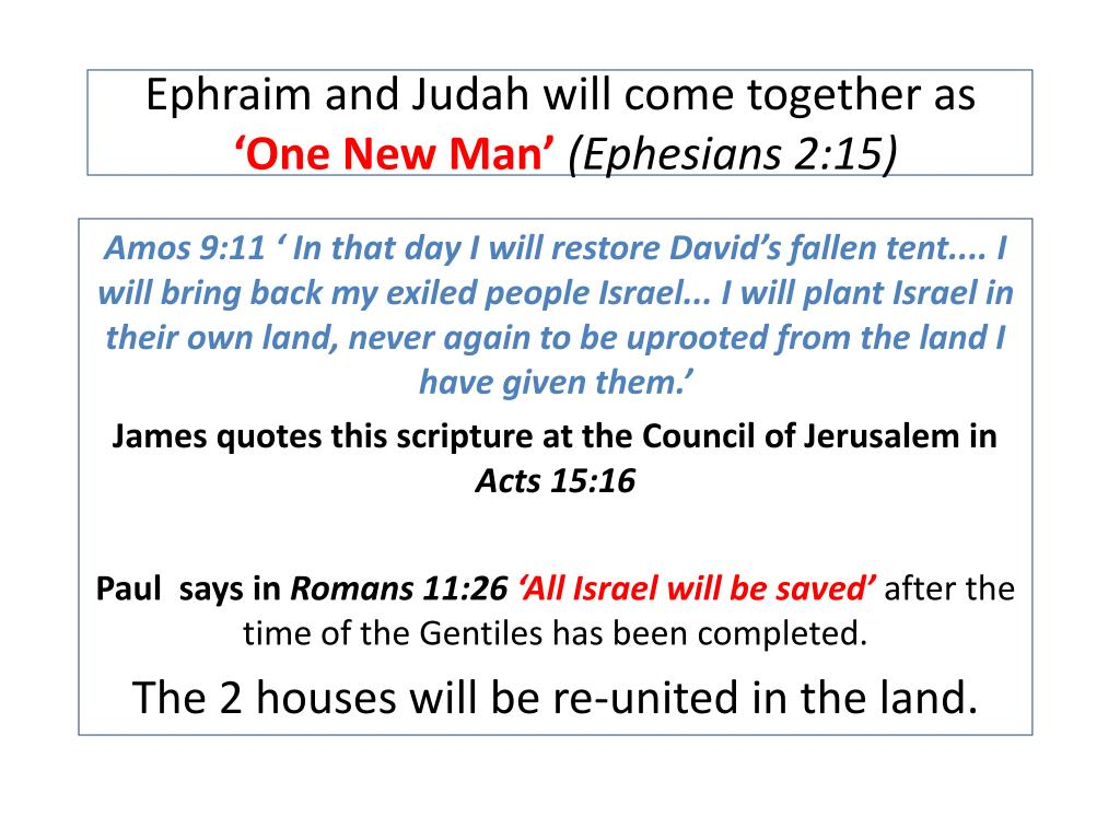 Ephraim and Judah will come together as