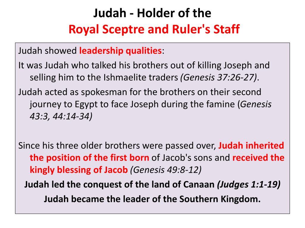 Judah - Holder of the