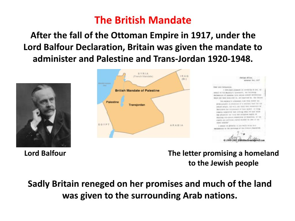 Lord Balfour                    The letter promising a homeland
