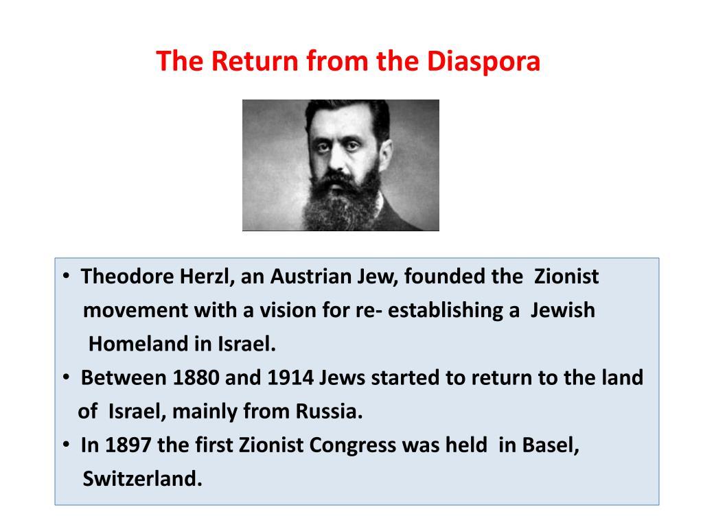 The Return from the Diaspora