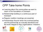 cpp take home points