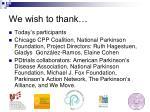 we wish to thank