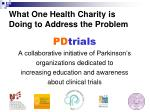 what one health charity is doing to address the problem