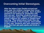 overcoming initial stereotypes17