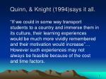 quinn knight 1994 says it all