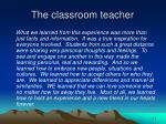 the classroom teacher