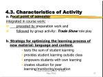 4 3 characteristics of activity