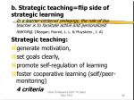 b strategic teaching flip side of strategic learning