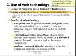 c use of web technology
