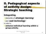 ii pedagogical aspects of activity design strategic teaching