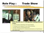 role play trade show http www lamc utexas edu sp project2a html